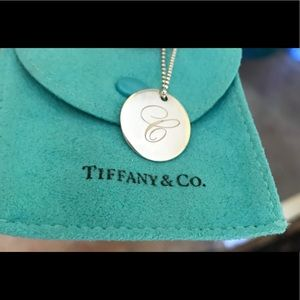 """C"" Tiffany&co 18 inch necklace pendant"